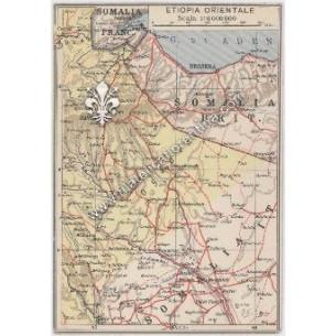 """Cartina Geografica """"Etiopia..."""