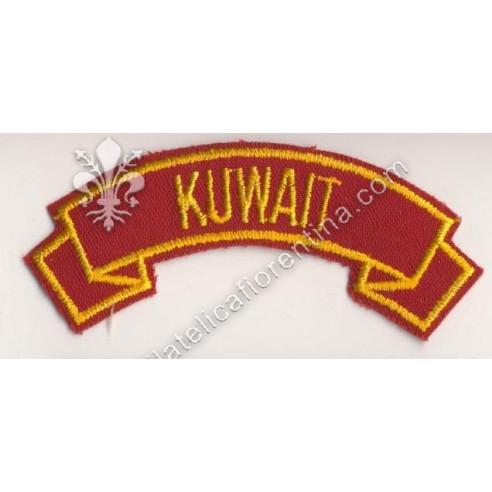 """""""Kuwait"""" giallo su rosso scuro"""