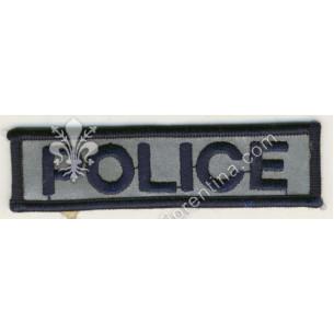 """Scritta """"POLICE"""" da petto"""