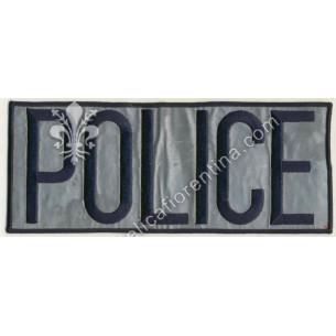 """Scritta """"POLICE"""" da schiena..."""