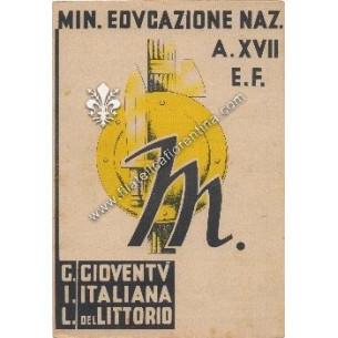 Pagella scolastica del 1939