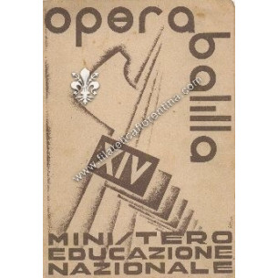 Pagella scolastica del 1936