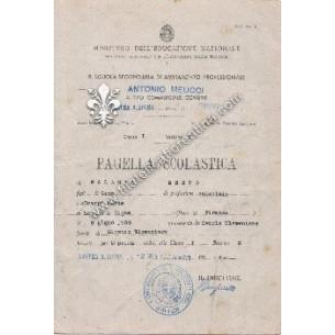 Pagella scolastica del 1942...