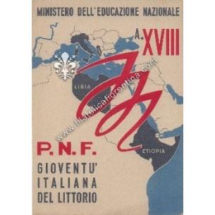 Pagella scolastica del 1940