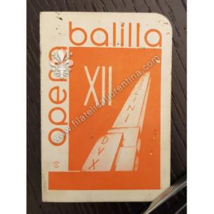 Opera Balilla - Anno XII°...