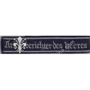 KRIEGSBERICHTER DES HEERES...