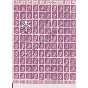 Foglio di 100 francobolli...