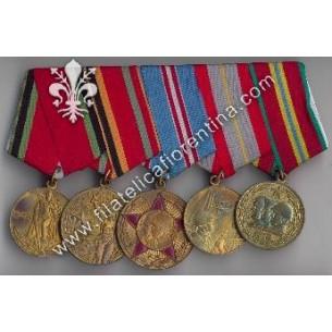 Blocco di 5 medaglie unite...