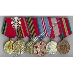 Blocco di 6 medaglie unite...
