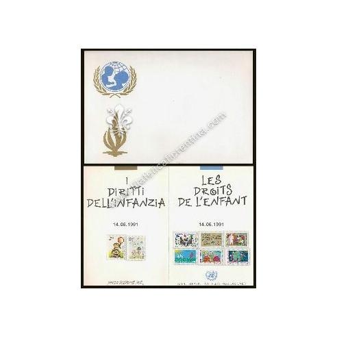 "Folder filatelico "" ONU - Diritti..."