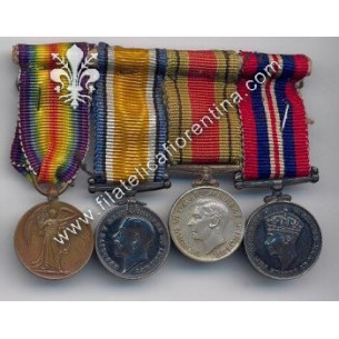 Blocco di 4 medaglie della...