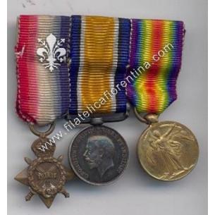 Blocco di 3 medaglie della...