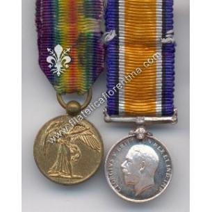 Blocco di 2 medaglie della...